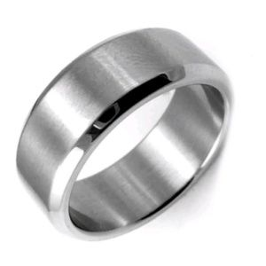 Other - Silver 18K Titanium - Men's Ring / Band - Size: 9